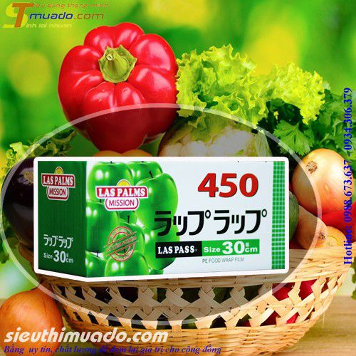 Màng bọc thực phẩm công nghệ Nhật Bản Las Palms 30cm x 450m