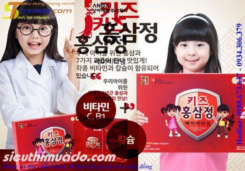 Nước hồng sâm baby Sanga Hàn Quốc dành cho Bé yêu